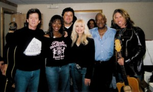 Left to right: Rodney Crowell, Ericka Dunlap (Miss America 2004), Vince Gill, Lane, Dobie Gray and Billy Ray Cyrus
