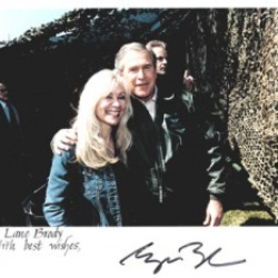 Lane with President Bush